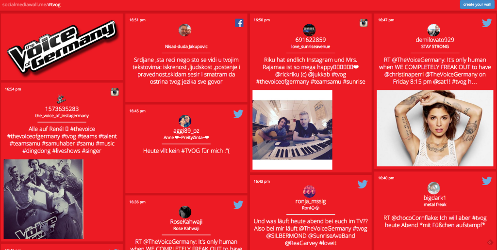 Twitterwalls Socialmediawall #tvog