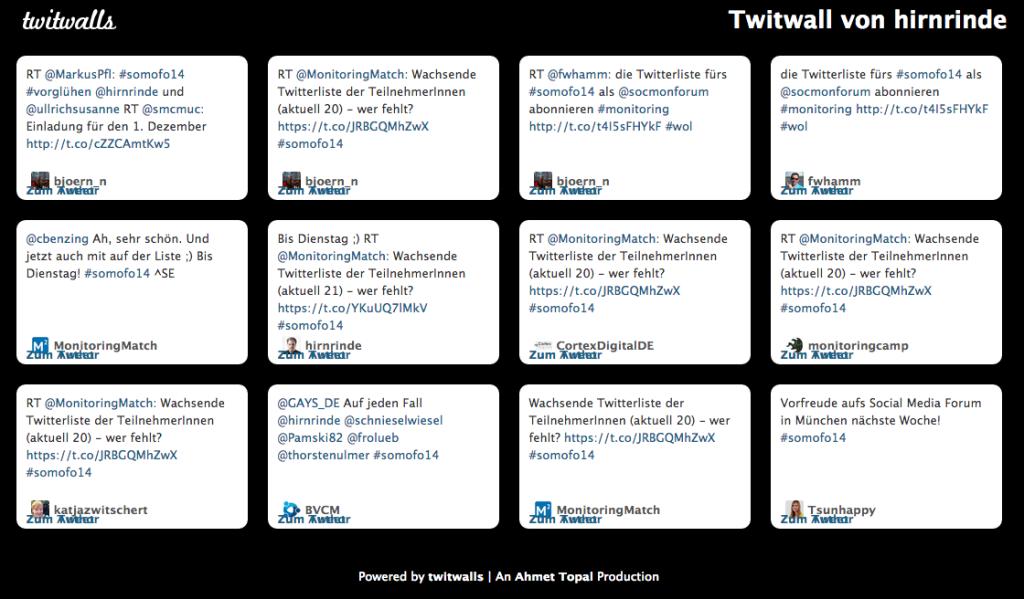 Kostenlose Twitterwalls von Twitwalls