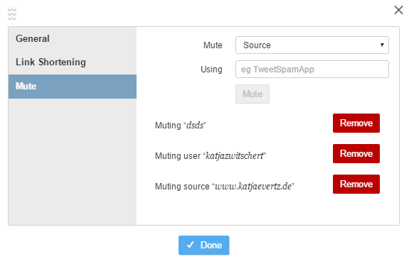 21 Tweetdeck Tipps: Mute-Funktion