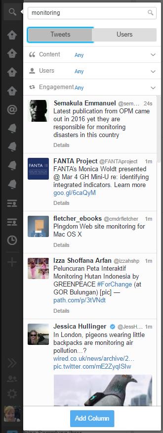 21 Tweetdeck Tipps: Suche nach Themen