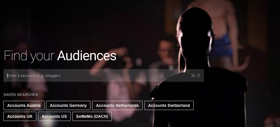 brandwatch audiences startseite gespeicherte suchen