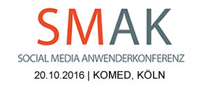 Social Media Anwender Konferenz #smak16 am 20.10.16 in Köln