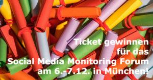 ticketverlosung social media monitoring forum 2016 muenchen