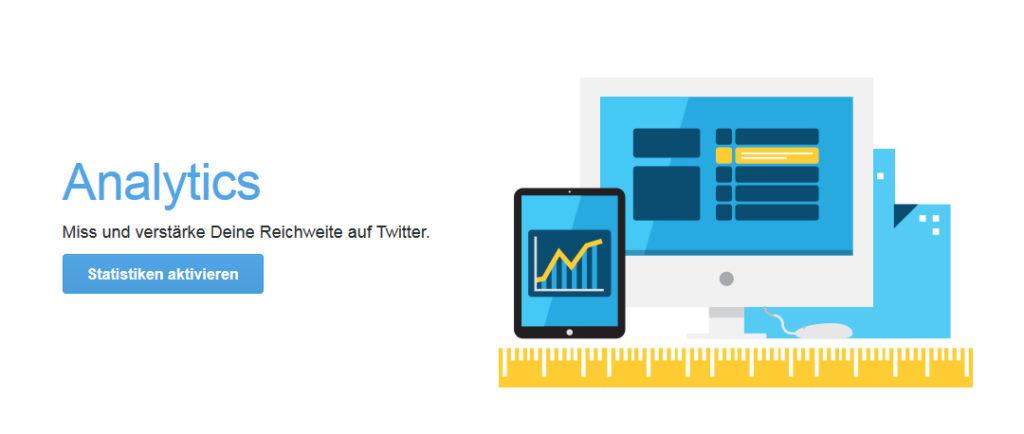 Twitter Analytics: Aktivierung