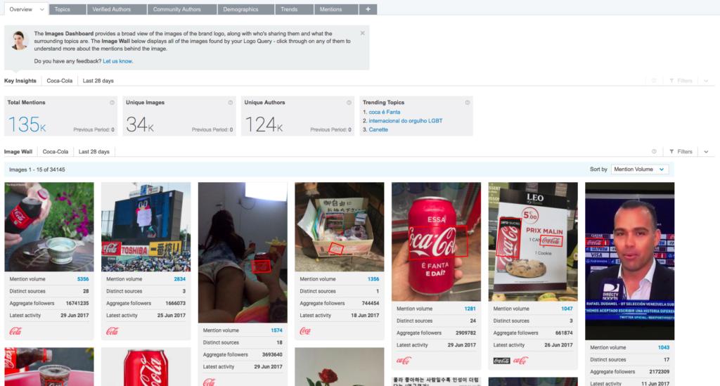 brandwatch bilderkennung image insights examples coca cola