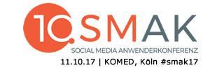 Social Media Anwenderkonferenz 2017 #smak17 am 11.10.17 in Köln