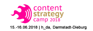 Content Strategy Camp 2018 #cosca18 am 15.-16.06.18 in Darmstadt-Dieburg